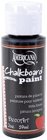Amazon.com: Black Slate Americana Chalkboard Paint - 2 oz. 1 ...