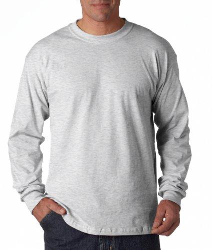 T-shirt Infant Ash - Gildan - Heavy Cotton Long Sleeve T-Shirt - 5400