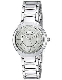 Anne Klein Reloj de cuarzo japonés para mujer con correa de aleación, plateado, 14 (Modelo: AK/2887SVSV)