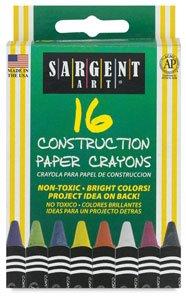 16Ct Construction Paper Crayon Standard Size Peggable ()