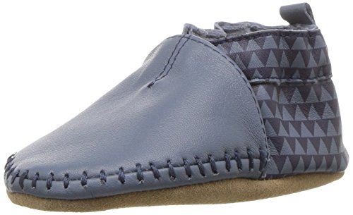 Robeez Boys' Classic Moccasin Crib Shoe Loafer, Geo, 18-24 Months M US Infant