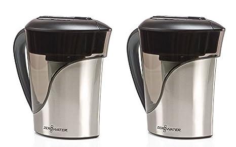 Amazon.com: ZeroWater 8 taza jarra de acero inoxidable con ...