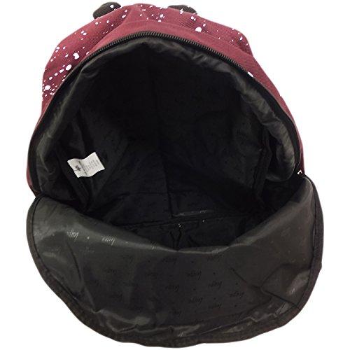 Just Hype Hype bag kit (Splatter) - Bolso al hombro de Poliéster para hombre talla única Maroon / White