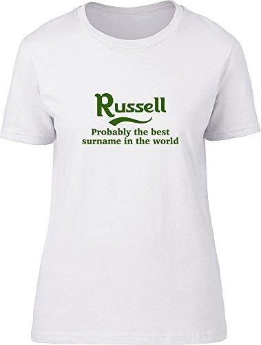 Russell probablemente la mejor apellido en el mundo Ladies T Shirt blanco