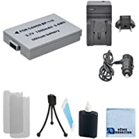 BP-110 Rechargeable Battery + Car/Home Charger For Canon VIXIA HF R20, R21, R200 / Legria HF R26, R27, R28, R205 and R206 & More.. Cameras + Complete Starter Kit