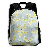 School Season Kids Backpack Bookbag,Child Banana Undressed Shoulder Bag
