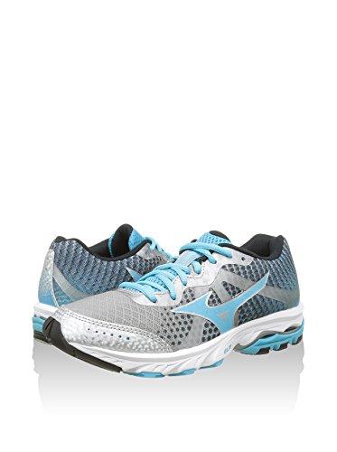 Running bato Mizuno Elevation Azul Claro Zapatos Para Silver fuchsiapurple Plata Wave Mujer 75qB8x56