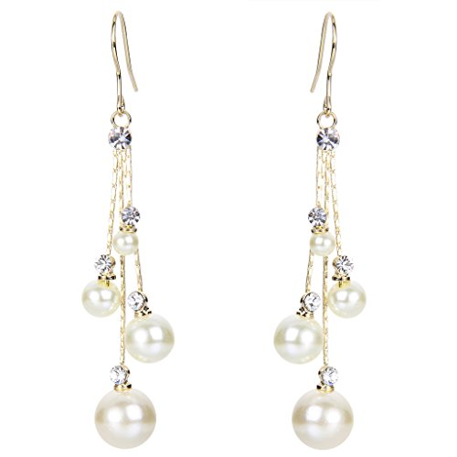 EleQueen Womens Crystal Simulated Earrings