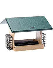 Birds Choice 7qt. 2-Sided Hopper with Suet Baskets
