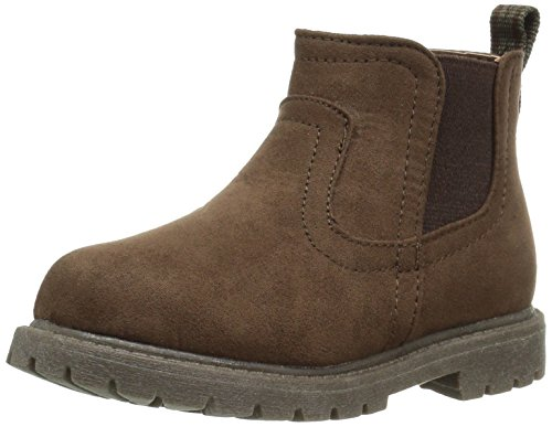 Brown Boots For Boys (carter's Boys' Cooper2 Fashion Chelsea Boot, Brown, 7 M US Toddler)
