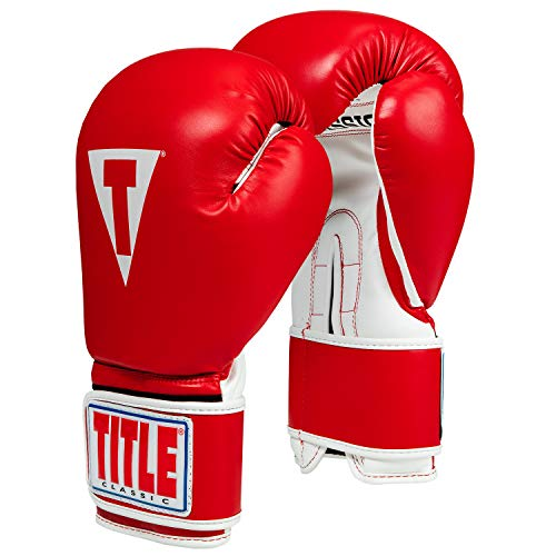 - Title Classic Pro Style Training Gloves 3.0, Red/White, 16 oz