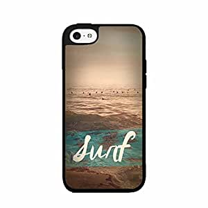 Ocean Waves Surf TPU RUBBER SILICONE Phone Case Back Cover iPhone 4 4s comes with Security Tag and MyPhone Designs(TM) Cleaning Cloth