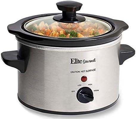 Elite Gourmet 1.5 Qt Slow Cooker