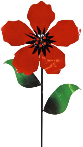 Steven Cooper Metalsmith AFLWR-19-L Artificial Garden Flower on Footed Stake, 5-Feet, Red by Steven Cooper Metalsmith