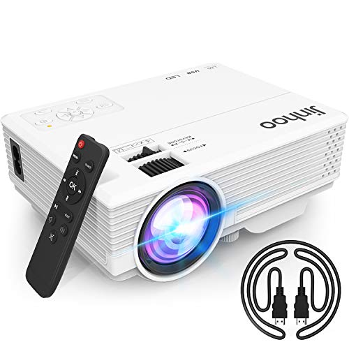 """2020 Latest Projector, Mini Video Projector with 4500 LUX, 1080P Supported, Portable Outdoor Movie Projector, 176"""" Display Compatible with TV Stick, HDMI, USB, VGA, AV for Home Entertainment"""