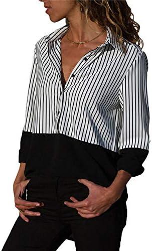 SETGVFG Blusas para Mujer Blusa A Rayas Blusas Y Blusas para Mujer Blusa De Manga Larga con Cuello Vuelto Blusa De Oficina Camisa Blusas Tunique Femme: Amazon.es: Deportes y aire libre