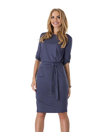 Kleid knielang dunkelblau - Beliebte kurze kleider