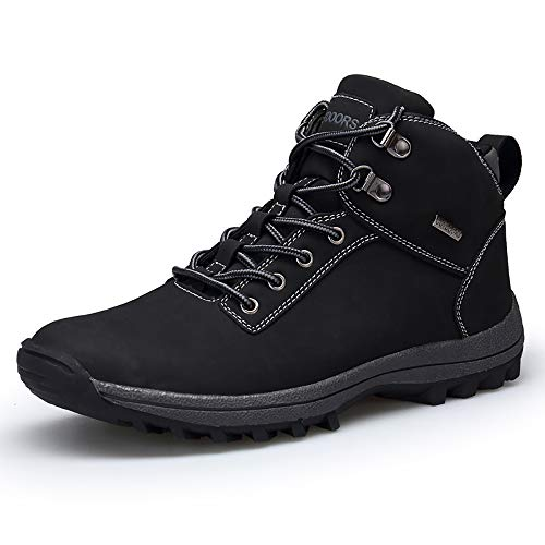VANDIMI Hiking Boots for Men Waterproof Lace Up Ankle Booties Non Slip Outdoor Ridge Ledge Shoes