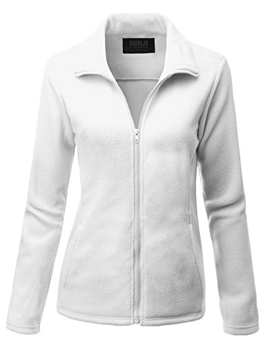 Doublju Womens Easy to Wear Thermal 3/4 Sleeve Big Size Jacket WHITE,3XL