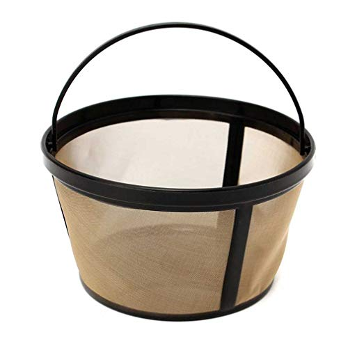 (BEANS Brand Permanent Coffee filter for 8-12 cup flat-bottom basket coffee-makers (Mr. Coffee, Proctor Silex, Hamilton, B&D))