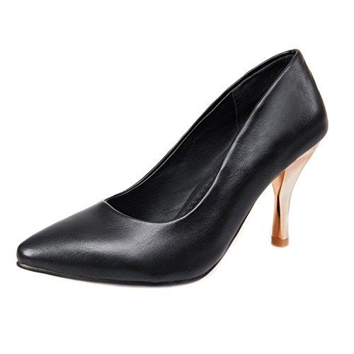 Spiel Schuhe Kätzchen Große Alle Gericht Schuhe Damen Komfortable Büro Frauen Arbeitsschuhe für Ferse SJJH Schwarz Größe aUxgTaw