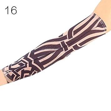 genial de La Manga del tatuaje brazo de deporte de manga de pieles ...