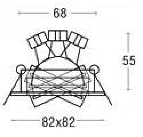 BRUMBERG NV-Einbaustrahler GX5,3 champagner 0065.63: Amazon.es: Electrónica