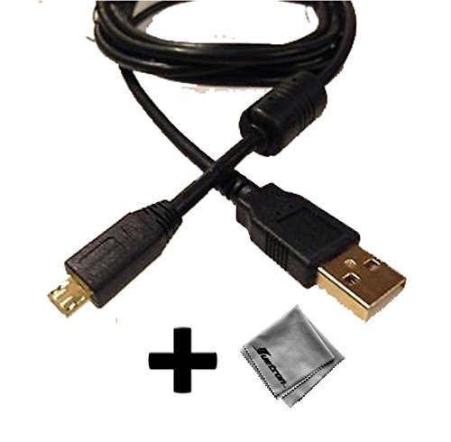 Black Gold-Plated USB 2.0 Cable for Logitech Harmony 350 Con