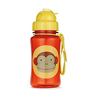 Skip Hop Zoo Straw Bottle, Holds 12 oz, Marshall Monkey