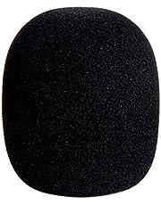 Brussels 1 szt. Gruba piankowa osłona mikrofonu gąbka typ kulkowy mikrofon przednia szyba filtr przednia szyba do nagrywania w studiu dźwięk na żywo scenę karaoke czarny