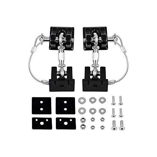 2pcs Aluminum Locking Hood Look Catch Latches Kit for 2007-2017 Jeep Wrangler JK Unlimited