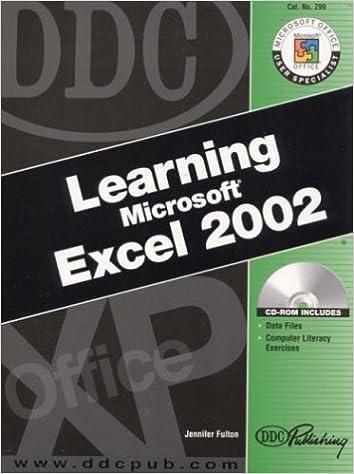 Learning Microsoft Excel 2002: Jennifer Fulton: 9781585771387 ...