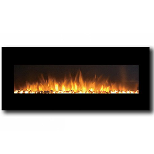 Moda Flame Oxford 50 Inch Pebble Electric Wall Mounted Firep