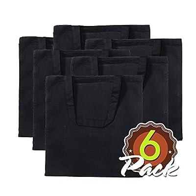 "Eco Friendly Natural Cotton Canvas Tote Bag 15"" X 16"" Flat No Gusset Shopping Bag, Craft Bag, Beach Bag, Grocery Bag, Travel Bag, Tote Bag for School, Book Bag, Diaper Bag"