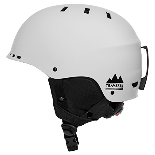 (Traverse Sports 2-in-1 Convertible Ski & Snowboard/Bike & Skate Helmet, Matte Star White, Large/X-Large)