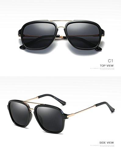400 UV C2 Gafas para Mujer Sol De Protección para Aviator Hombre Polarizadas C2 6ZOZvx4q