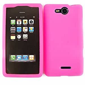 CELL PHONE SILICONE SKIN FOR LG LUCID VS840 MAGENTA