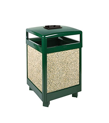 Rubbermaid Commercial Products FGR38HTWU202PL Refuse Container, Hinged Top with Urn, 38 gal