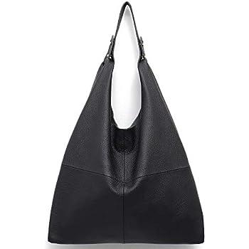 38e7152d6582 STEPHIECATH Women s Handbag Genuine Leather Slouchy Hobo Shoulder Bag Large  Casual Soft Handmade Tote Bags Ladies