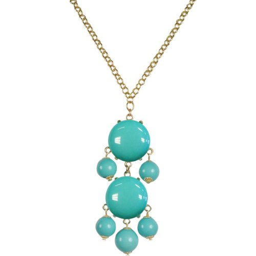 Wrapables Beaded Bubble Pendant Necklace, Sky Blue (Bubble Blue Necklace Sky)