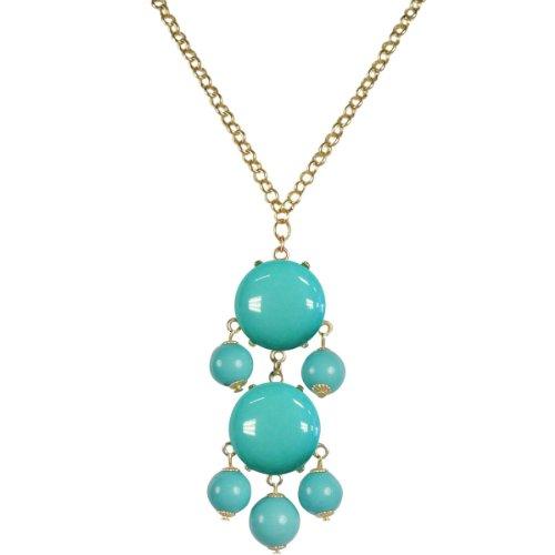 Wrapables Beaded Bubble Pendant Necklace, Sky Blue (Bubble Necklace Blue Sky)