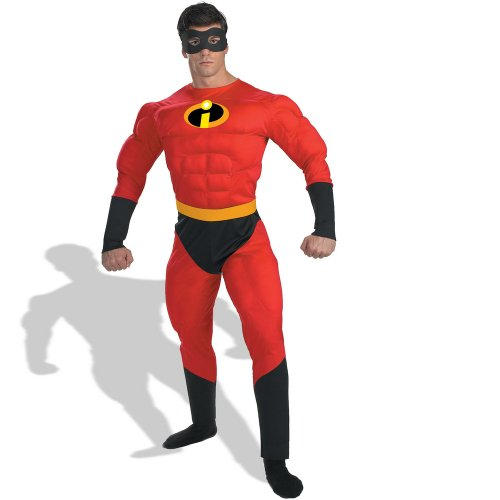 Muscle Man Legs Costume (Mr. Incredible Adult Costume - X-Large)