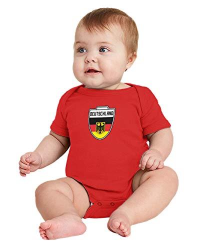 Deutschland - Country Soccer Crest Bodysuit (Red, 18 Months)
