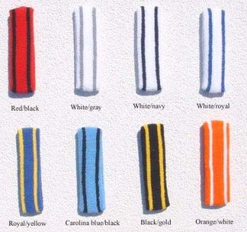Striped Sweatbands Set