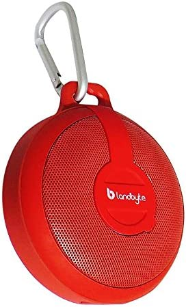 LANDBYTE LB-210 Red Wireless Bluetooth Waterproof, Dustproof, Drop Outdoor Portable Stereo Mini Speaker Subwoofer. Large-Capacity Player, Tablet for All Types of Mobile Phones