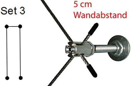 Pérgola RH05 – Juego 3 – cuerda de acero inoxidable 6 m, 4 x ...