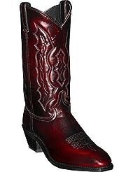 Abilene Mens Cherry Dress Cowboy Boot Square Toe - 6469