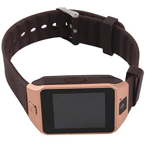 Vaorwne DZ09 SmartWatch Handy-Uhr Fuer Smartphone Android Phone mit Kamera SIM Gold