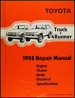 1988 toyota truck 4runner repair manual toyota motor corp rh amazon com toyota shop manual for 2004 tacoma pickup toyota shop manual pdf