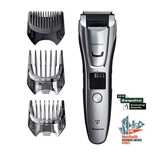Panasonic Body and Beard Trimmer for Men ER-GB80-S, Cordless/Corded Hair Clipper, 3 Comb Attachments and 39 Adjustable Trim Settings, Washable ()
